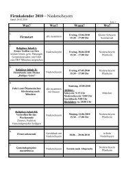 Firmkalender 2010 – Niederscheyern - Pfarrei Scheyern