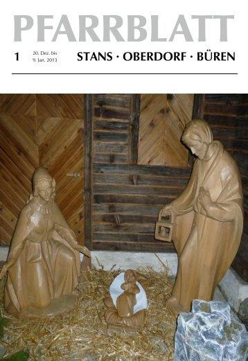 Pfarrblatt Nr. 01 / 13 (6.89 MB) - Pfarrei Stans
