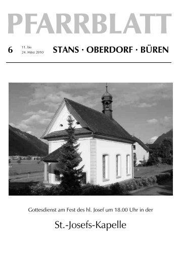 St.-Josefs-Kapelle - Pfarrei Stans