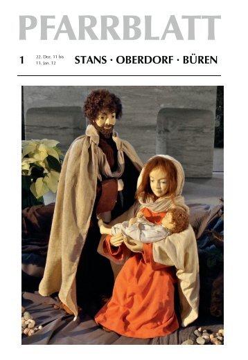 Pfarrblatt Nr 01/12 (0.99 MB) - Pfarrei Stans