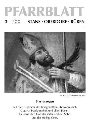 Pfarrblatt Nr. 03 / 13 (4.14 MB) - Pfarrei Stans