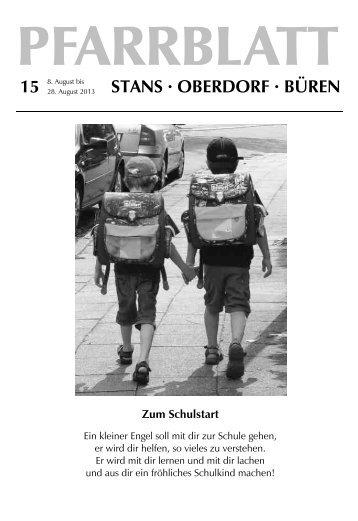 Pfarrblatt Nr. 15 / 13 (1.71 MB) - Pfarrei Stans