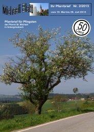Nr. 2/2013 Ihr Pfarrbrief - Pfarrei Untergriesbach, Pfarrgemeinde ...