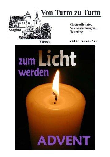 Pfarrbrief 26 - Katholische Pfarrei Vilseck St. Ägidius