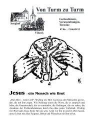 Jesus – ein Mensch wie Brot