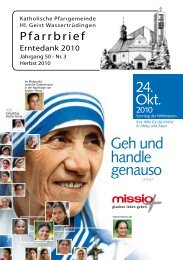 Pfarrbrief_Erntedank-2010 - Katholische Gemeinde Wassertrüdingen