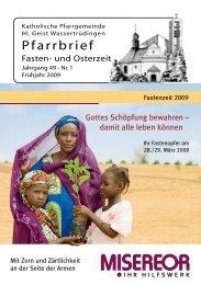 Fasten- und Osterzeit - Katholische Gemeinde Wassertrüdingen