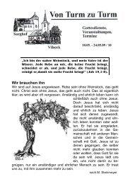Pfarrbrief 10 - Katholische Pfarrei Vilseck St. Ägidius