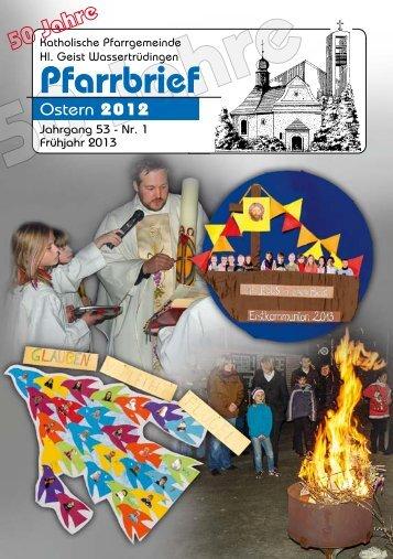 Pfarrbrief_01-2013_klein - Katholische Gemeinde Wassertrüdingen