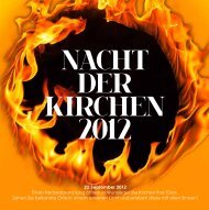 NACHT DER KIRCHEN 2012 - Pfarrei Wunsiedel