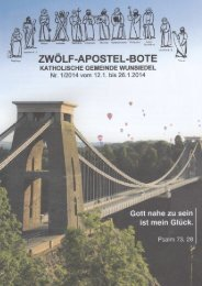 ZWÖLF-APOSTEL-BOTE - Pfarrei Wunsiedel