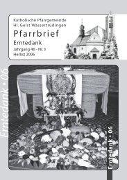 Pfarrbrief Erntedank - Katholische Gemeinde Wassertrüdingen