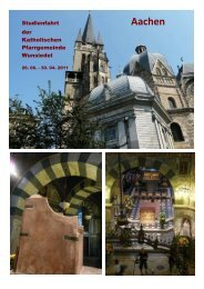 zum Bericht im pdf-Format - Pfarrei Wunsiedel