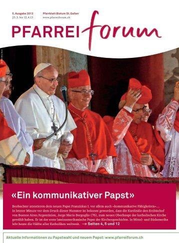 Ein kommunikativer Papst - Pfarreiforum
