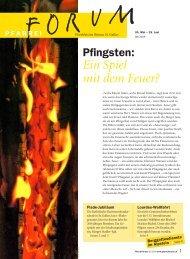 Pfingsten: Ein Spiel mit dem Feuer? - Pfarreiforum
