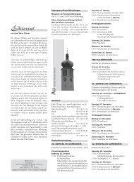 Ausgabe 15/2013 - Pfarreiforum