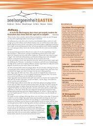 Ausgabe 2/2013 - Pfarreiforum