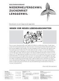 Ausgabe 11/2013 - Pfarreiforum