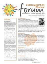 Ausgabe 4/2013 - Pfarreiforum