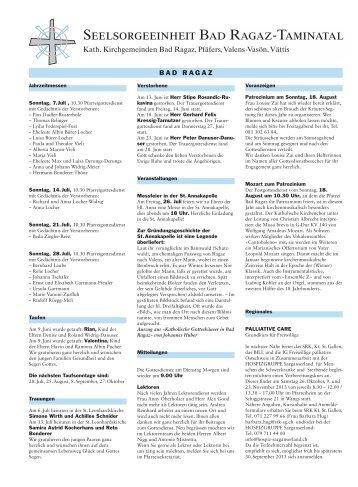 Ausgabe 10/2013 - Pfarreiforum