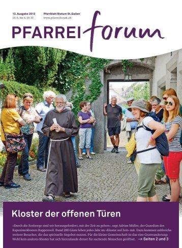 Kloster der offenen Türen - Pfarreiforum