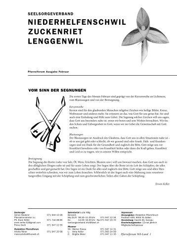 niederhelfenSchwil zuckenriet lenggenwil - Pfarreiforum