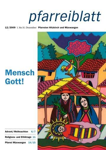 2009-12 Dezember.pdf - Pfarrei Hitzkirch