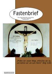 Fastenbrief - Pfarrer von Mayrhofen und Brandberg
