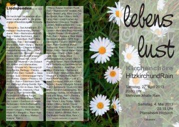 Programm - Pfarrei Hitzkirch