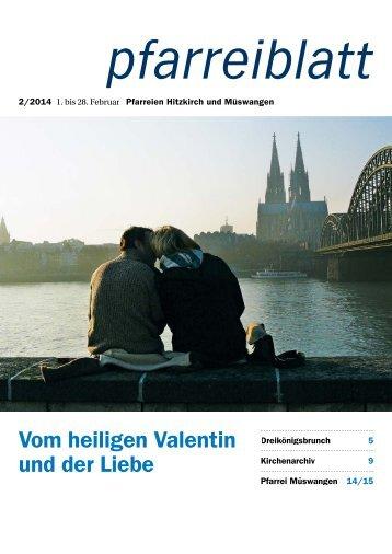 Vom heiligen Valentin und der Liebe - Pfarrei Hitzkirch