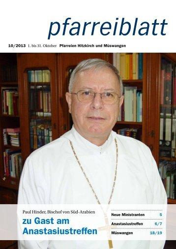 zu Gast am Anastasiustreffen - Pfarrei Hitzkirch