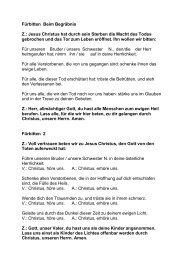 Fürbitten beim Begräbnis (PDF) - Pfarre Oberndorf an der Salzach