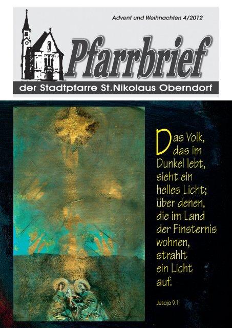 Pfarrbrief Advent Weihnachten 2012 - Pfarre Oberndorf an der Salzach