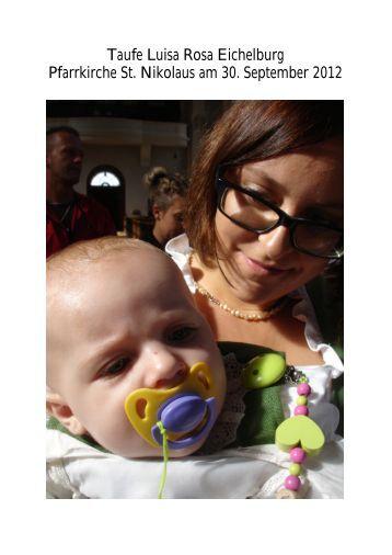 Taufe Luisa Rosa Eichelburg 30.9.12 (PDF) - Pfarre Oberndorf an ...