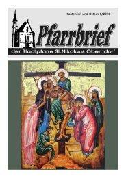 Pfarrbrief 2010 - 01: Ostern - Pfarre Oberndorf an der Salzach