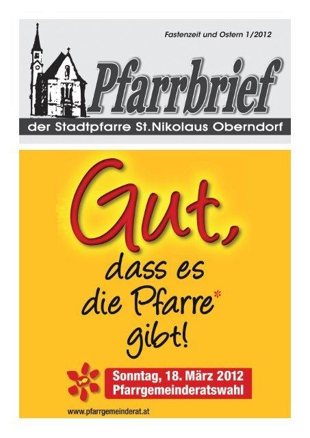 Fastenzeit und Ostern 1/2012 - Pfarre Oberndorf an der Salzach