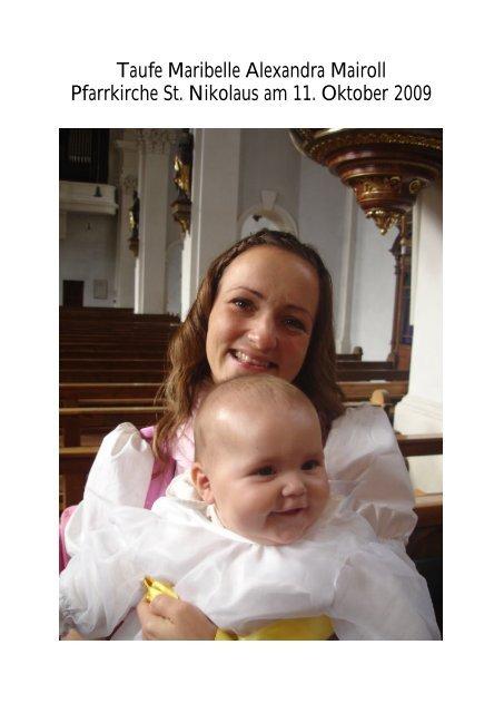 Fotos Taufe Maribelle Alexandra Mairoll 11.10.09 (PDF) - Pfarre ...
