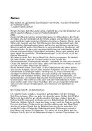 BETEN ein Impuls von Bischof Joachim Wanke (PDF) - Pfarre ...