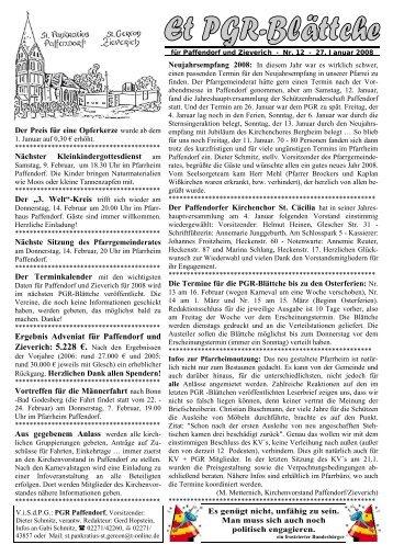 Ergebnis Adveniat für Paffendorf und - Pfarre Paffendorf