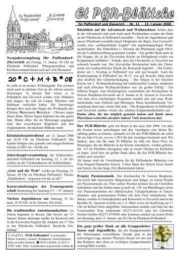 Neujahrsempfang für Paffendorf ... - Pfarre Paffendorf