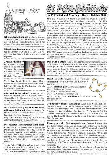 """Antoniusmesse"" - Pfarre Paffendorf"