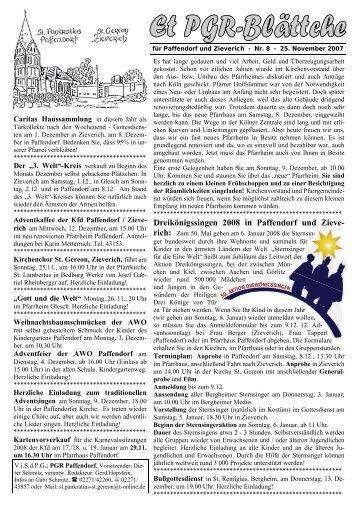 Dreikönigssingen 2008 in Paffendorf und Zieve- - Pfarre Paffendorf