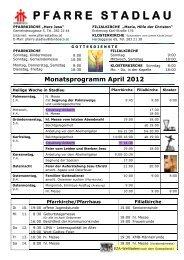 Monatsprogramm November 2007 - 22., Pfarre Stadlau