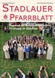 Jugend im Blitzlichtgewitter Firmung in Stadlau - 22., Pfarre Stadlau