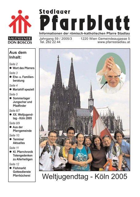 XX. Welt-Jugendtag in Köln Sommerlager von Jungschar und ...