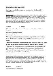 Bibelteilen – 23. Sept. 2011 - 22., Pfarre Stadlau