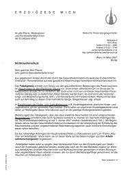 Brief der ED Wien - 22., Pfarre Stadlau