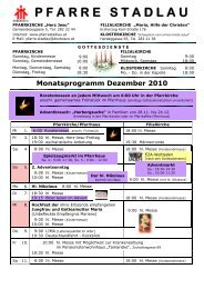 Monatsprogramm Dezember 2010 - 22., Pfarre Stadlau