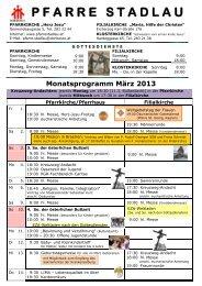 Monatsprogramm März 2012 - 22., Pfarre Stadlau