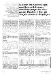 sammensetzungen der Herz- Lungen-Maschine (HLM)